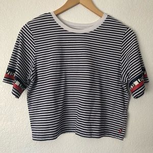 Levis Girls Youth Size XL Striped Crop Top Shirt